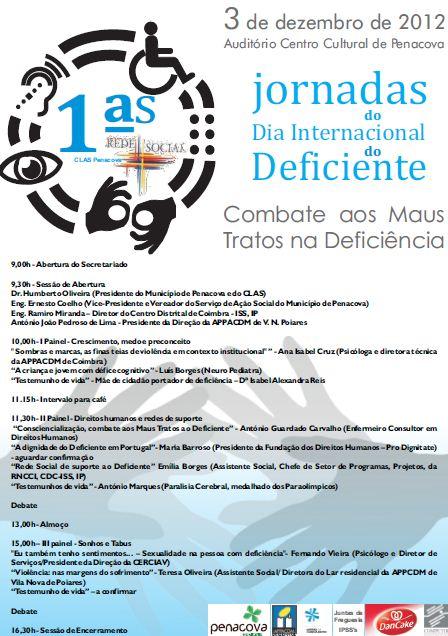 Combate aos Maus Tratos na Deficiência - 3 Dezembro em Penacova