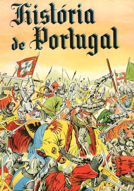 Capa da 1.ª edição da caderneta «História de Portugal», impressa pela Fotogravura Nacional, em outubro de 1953