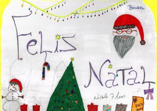 Muitas crianças desenham o que querem receber no Natal / DR