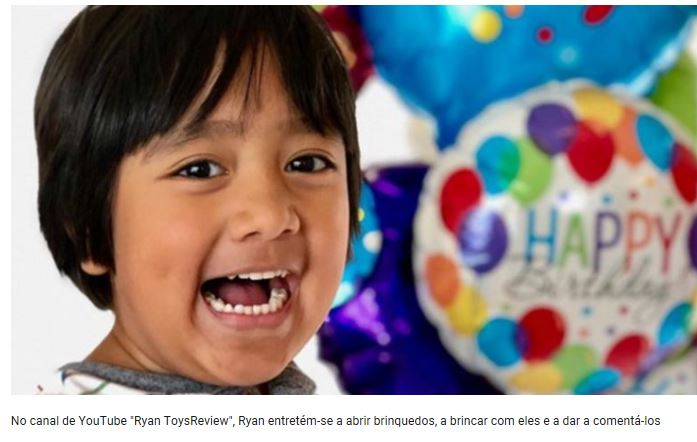0756c11d044 Ryan tem sete anos de idade